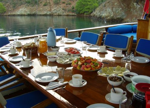 Food breakfast at sea