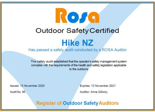 Rosa safety certificate