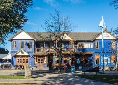 Blue pub front